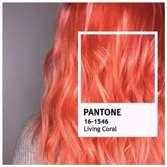 "Pantone 2019 Color of the Year ""Living Coral"" recreated with this incredible bright bold pink orange Aveda color. Styled by Aveda's Global Artistic Director Hair, Ian Michael Black. Aveda color formula: prelightened to pale yellow, Red pp. Coral Hair Color, Pink And Orange Hair, Peach Hair Colors, Yellow Hair, Pale Pink, Pastel Coral Hair, Bright Coloured Hair, Color Red, Balayage Auburn"