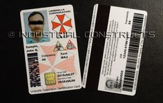 Custom ID cards for the Umbrella Corporation. That's right! Your picture and information on a custom PVC card made just for you. This listing is for a custom designed Umbrella Corporation Badge designed in the likeness of the CAC (Common Access Cards) that are used by government and military with your photo and information in place of the test subject that we used to make the sample cards. Note: Picture #1 is the updated style that currently available. ** Optional Smart Cards - Photo 5…