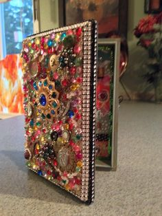 Altered cigar box, day of the dead mixed media.