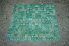 """Original Bisazza Glas Mosaik  """"Bahamas"""". 2-farbige Türkis-Mischung. Glasmosaik!"""