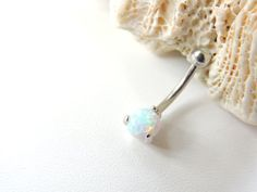 Fire Opal Belly Button Ring Opal Navel Rings by SeductiveBodyWorks