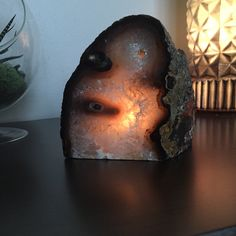 Agate rock candle holder ❤️