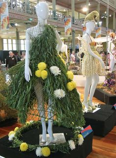 Floral Fashion Couture at the Melbourne International Flower and Garden Show |  Exhibit by 3rd Year RMIT Fashion students.