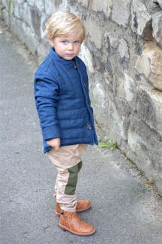 Blue eyes, wearing a Bobo Choses by Orange Mayonnaise pants ! Pic by #Les Enfants a Paris blog.
