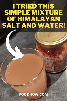 This not that well know salt water is called Sole water. It is made by saturating water with pink Himalayan salt. Himalayan salt is extracted from mines near the Himalayas in Pakistan. I tried this simple mixture of Himalayan salt and water, and I want to tell you why you should also try drinking Sole water and what are some of the great benefits that sole water has on... Detox Juice Recipes, Tea Recipes, Detox Drinks, Detox Diet For Weight Loss, Weight Loss Tips, Lose Weight, Sole Water, Detox Your Body, Himalayan Salt