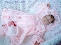 KNITTING PATTERN for BABY LONG JACKET AND HAT, TROUSERS 0-3, 3-6mth #60