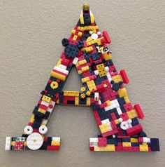 Lego letter for a Mickey Mouse Room