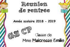 Diaporama réunion de rentrée GS CP - Maitresse, au tableau ! Grande Section, Classroom, Teaching, Words, Parents, Montessori, Reunions, Teacher Binder, Kindergarten Classroom