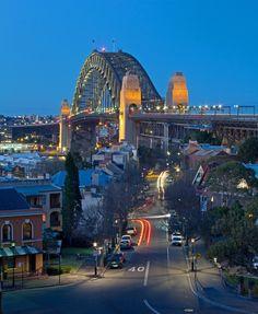 View along Lower Fort Street, Sydney Australia