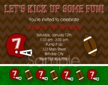 Planning a Sports themed birthday party? Print your own invitations for a Football boys party. Let us print for you or print your own boys and girls invitations. Football Party Invitations, Custom Party Invitations, Print Your Own Invitations, Printable Birthday Invitations, Invites, Invitation Ideas, Sports Themed Birthday Party, Football Birthday, Dad Birthday