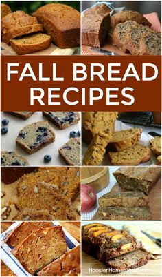 FALL BREAD RECIPES -