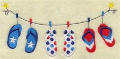 Machine Embroidery Designs at Embroidery Library! - Flip Flops