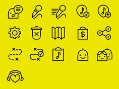 icons for an app. I would appreciate constructive criticism! (view at @2x)