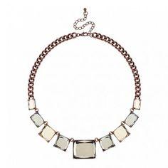 Betty Jackson.Black Designer brown square link necklace | Debenhams