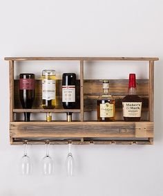 Loving this Barn Wood Wall-Mounted Bar ---we could make this four outside