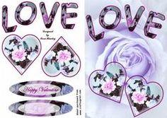 Love Purple2 on Craftsuprint - View Now!