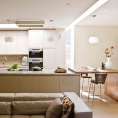 Image result for sofa island worktop against wall