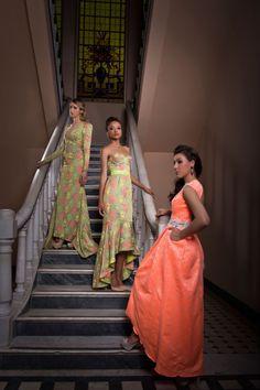 Vestidos de festa da Coleção Miss Yara Mosquito pela estilista angolana Soraya da Piedade. Foto: Mel Gabardo Produção de moda: Hellen Albuquerque