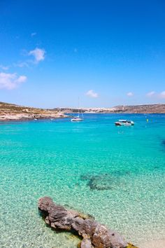 Fresh, clear waters on #Comino Island │ #VisitMalta visitmalta.com