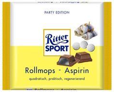 RITTER SPORT Fake Schokolade Rollmops-Aspirin