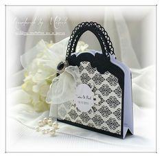 Wedding invitation as a purse
