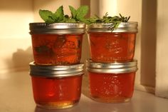 Herb Jelly inspired by Pam Corbin (makes 4 half-pint jars or so)  2 lbs apples, chopped into ½-inch pieces, including skin and cores (8-9 cu...