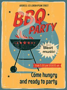 Poster do partido para churrasco Imagens