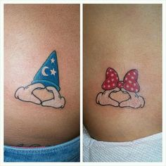 This modern spin on the classic duo: | 21 Magical Disney Couple Tattoos