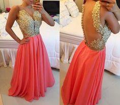 vestido de festa coral formatura