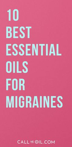 You can use essential oils for headaches! Here are top seven essential oils for headaches and why to use them to relieve headache pain. Essential Oils For Migraines, Oils For Sinus, Copaiba Essential Oil, Organic Essential Oils, Best Essential Oils, Essential Oil Blends, Oil For Headache, Migraine Relief, Migraine Oils