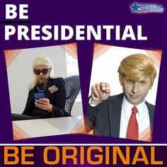 What every your party, rock the vote by dressing up as your favorite candidate or punch line.  Check out how you can show your political colors this #Halloween. #BeOriginal #thrifty #thrift #thriftshopping