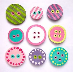 DIY Egg Carton Buttons Craft for Kids via Deborah Beau of Kickcan & Conkers (my absolute fave)