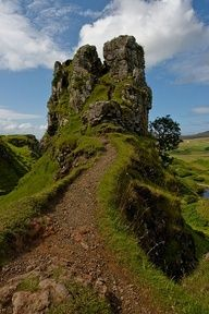 Crag at the Fairy Glen, Isle of Skye, Scotland. - Been there - climbed that to the top!