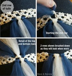 Attaching the second row of tulle