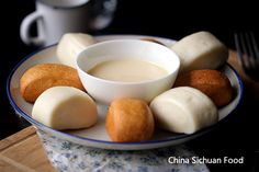 fried mantou with condensed milk