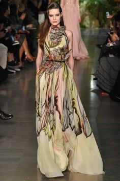Elie Saab 2015 Spring/Summer Couture.  The butterfly gets me every time.