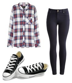 """first day of school"" by sxdiiee ❤ liked on Polyvore featuring Rails, Joules and Converse"