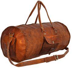 """Reisende soll man nicht aufhalten! Und mit dieser Tasche sowieso nicht! """"Archie"""" ist der ideale Begleiter für Deine Reise in die Ferne. Die Tasche aus natürlich gegerbtem, indischem Ziegenleder überzeugt durch die Verbindung von außergewöhnlichem Design und praktischer Handhabung - Weekender - Reisetasche - Boardtasche - Gusti Leder - R3"""