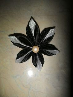 Kanzashi flower brooch Kanzashi Flowers, Flower Brooch, Tattoos, Jewelry, Tatuajes, Jewlery, Jewerly, Tattoo, Schmuck