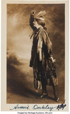 Annie Oakley and Frank Butler were the club shooting pros and resident - Available at 2013 June 22 - 23 Legends of. Missed In History, Prehistoric Period, Superman Movies, Orphan Girl, Annie Oakley, Indian Princess, Picture Postcards, It Movie Cast, Costume Contest