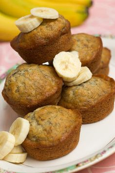 Sugar & Spice by Celeste: Amazingly Easy (& Delicious) Banana Muffins.. I made these tonight. Added a splash of vanilla extract, a quarter tsp of nutmeg and a heaping half tsp of cinnamon... Turned out delish! JMF