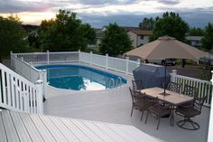 Oval Above Ground Pool Deck Plans | Above Ground Swimming Pools