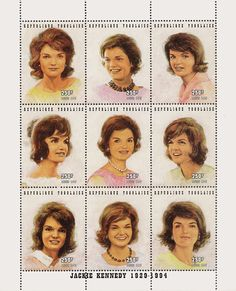 Togo Jackie Kennedy set of 9, mint - Catalog # M5135A For Sale at Mystic Stamp Company
