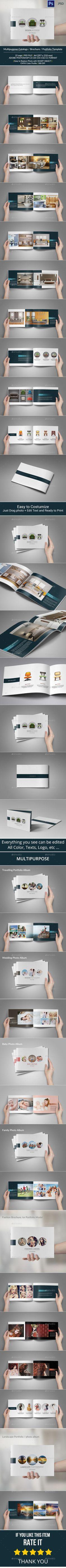 Multipurpose Catalogs / Brochure / Portfolio Template #design Download: http://graphicriver.net/item/multipurpose-catalogs-brochure-portfolio/10010547?ref=ksioks