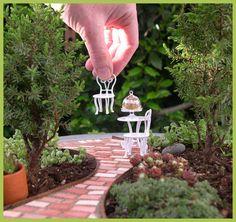 Two Green Thumbs Miniature Garden Center - Fairy Garden Plants Mini Fairy Garden, Garden Art, Garden Plants, Garden Design, Fairy Gardens, Garden Table, Dream Garden, Garden Mesh, Fairies Garden