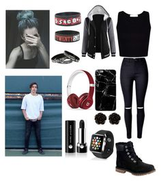 """Date with Colby Brock 💙"" by joanaoliveira-ii ❤ liked on Polyvore featuring Timberland, Harper & Blake, Beats by Dr. Dre, Erica Lyons, Apple, Hot Topic, Marc Jacobs and Ultimate"