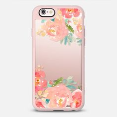 Watercolor Flowers Iphone Case - Peonies Multicolored - New Standard Case