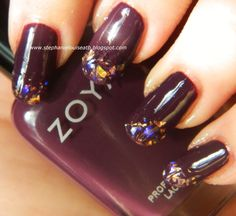 Zoya Monica with Icing by Claire's Pampered & Primped Nail Polish on the tips manicure nail art.