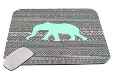 Blue Elephant with Tribal Print  Mouse Pad (7.99 USD) by FutureSales