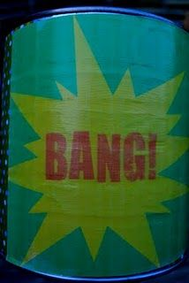BANG - site words in bin + BANG cards. Pull card out, read it, keep it if correct (return if wrong). If you pull out a BANG card, you return all your cards to the bin.